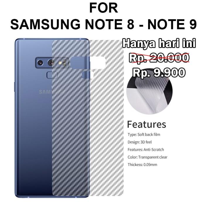 Foto Produk Samsung Note 8 - Note 9 stiker anti gores belakang garskin SKIN CARBON - Note 9 dari Case Pedia