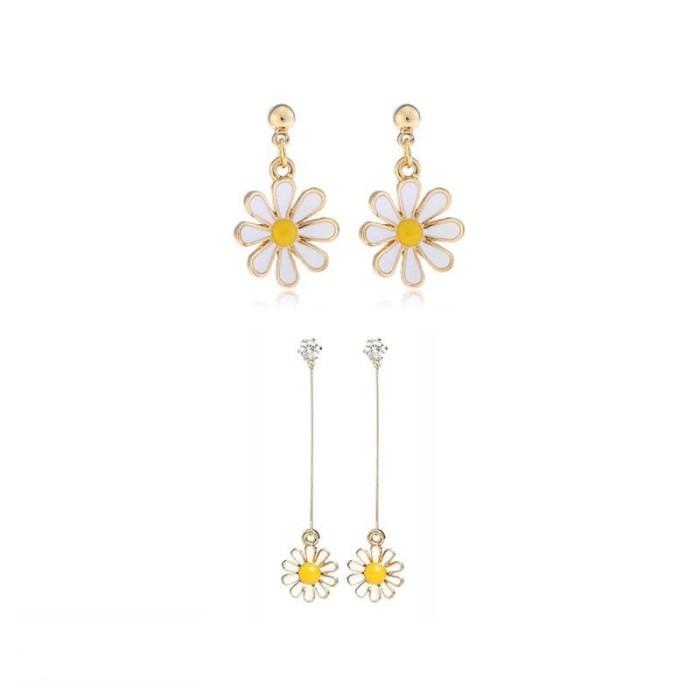 Foto Produk Anting Korea Simple Daisy Sun Flower Pendant Earrings dari koleksi baju couple