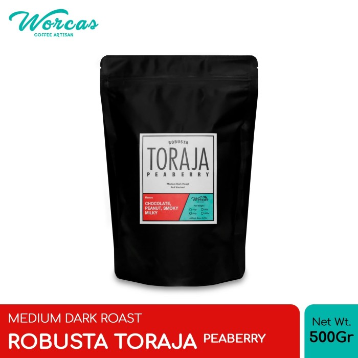 harga Kopi robusta toraja  peaberry  500 gram medium dark roast - bubuk halus Tokopedia.com