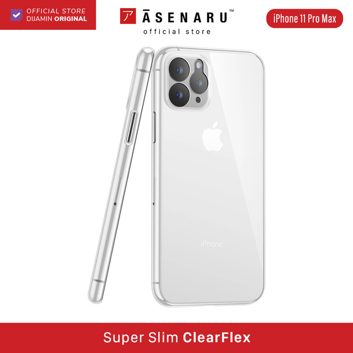 Foto Produk ASENARU iPhone 11/11 Pro/11 Pro Max Casing - Super Slim ClearFlex Case - Crystal Clear, 11 Pro Max dari Asenaru Official Store