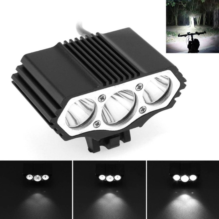 Foto Produk INFUN Lampu Sepeda Owl X3 LED CREE XML-T6 7500 Lumens USB Power - 4A27 dari Guguru