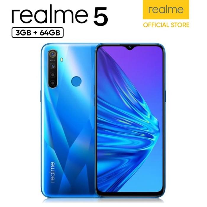 harga Realme 5 3/64gb - garansi resmi - crystal blue Tokopedia.com