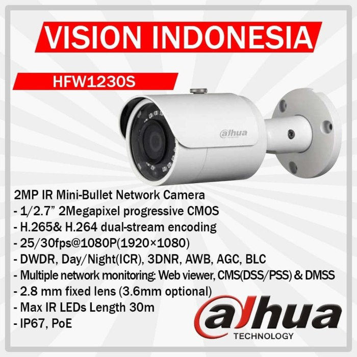 harga Camera dahua starlight low lux 2.0mp hac-hfw1230slp original Tokopedia.com