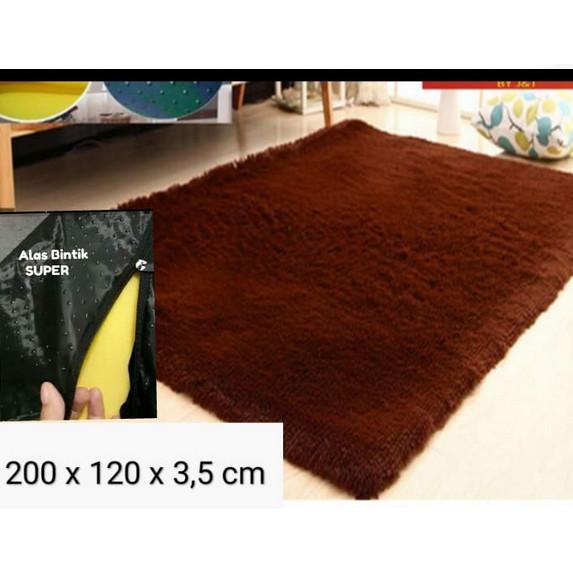 Foto Produk karpet Bulu200x120x3,5 cm karpet lantai /karpet rasfur ANTI SLIP SUPER - hiatm dari BROUMmedia