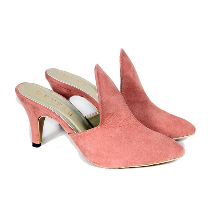 harga Sepatu sandal flat shoes heels wedges wanita meyfah luna pink - merah muda 40 Tokopedia.com
