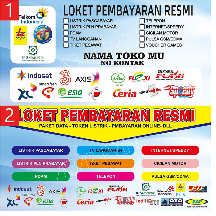 Jual Spanduk Banner Konter Pulsa 200 x 100 - 2x1 - Jakarta ...