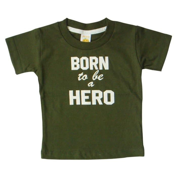 harga Baju bayi laki pleu t-shirt born to be hero - hijau 3 tahun Tokopedia.com