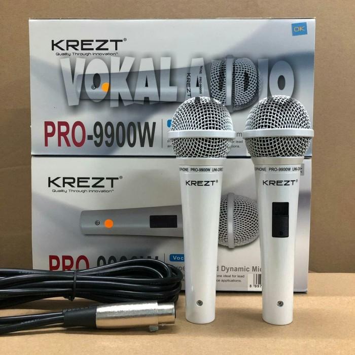 Foto Produk Mic Kabel KREZT PRO 9900 -S White dari Vokal Audio