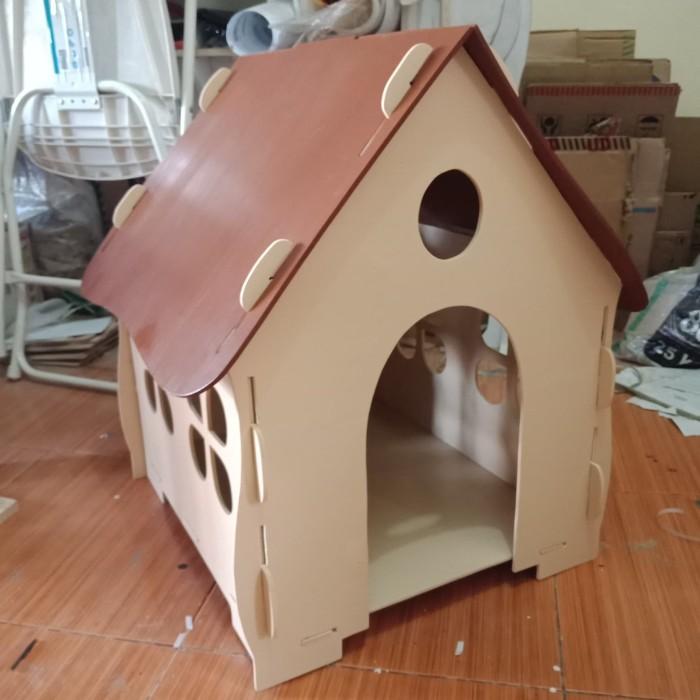 Jual Kandang Rumah kucing kelinci anjing kayu 50X42X60cm ...