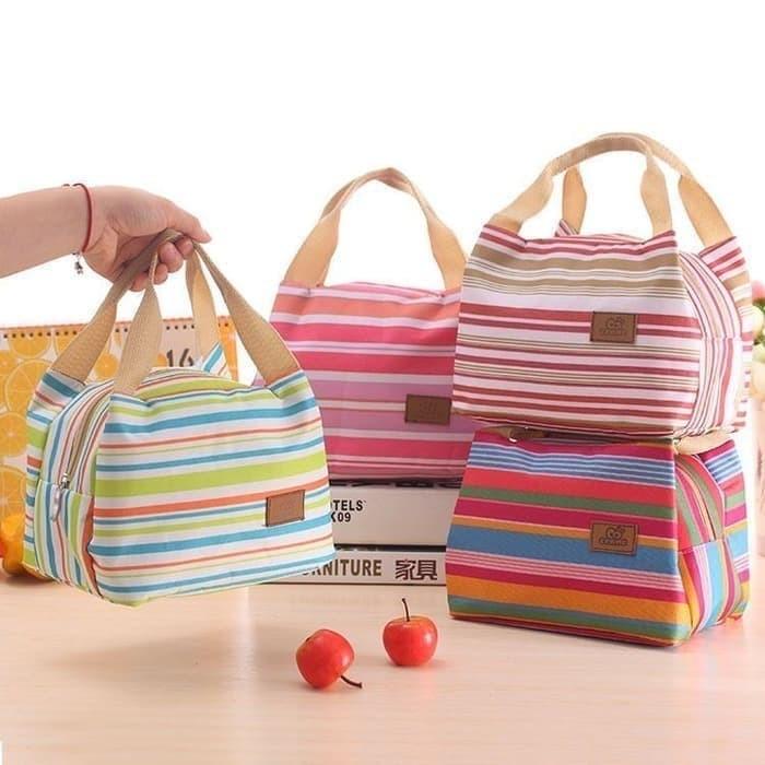 Foto Produk E45 TAS BEKAL MOTIF SALUR / LUNCH BAG / COOLER BAG dari Raja Market Indonesia