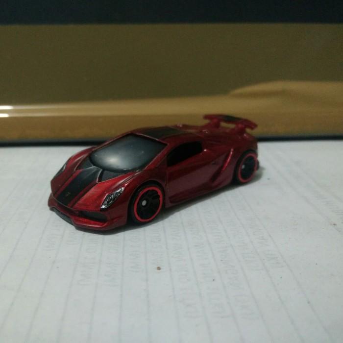 Jual Hotwheels Lamborghini Sesto Elemento Red Loose Mulus Made in Indonesia  , Jakarta Timur , toko online provy