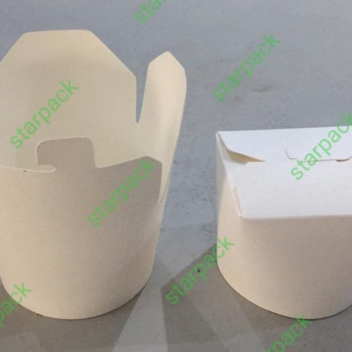 Foto Produk Mangkuk kertas pintar starbox paper bowl tutup kertas kemasan 25pcs dari starpackid