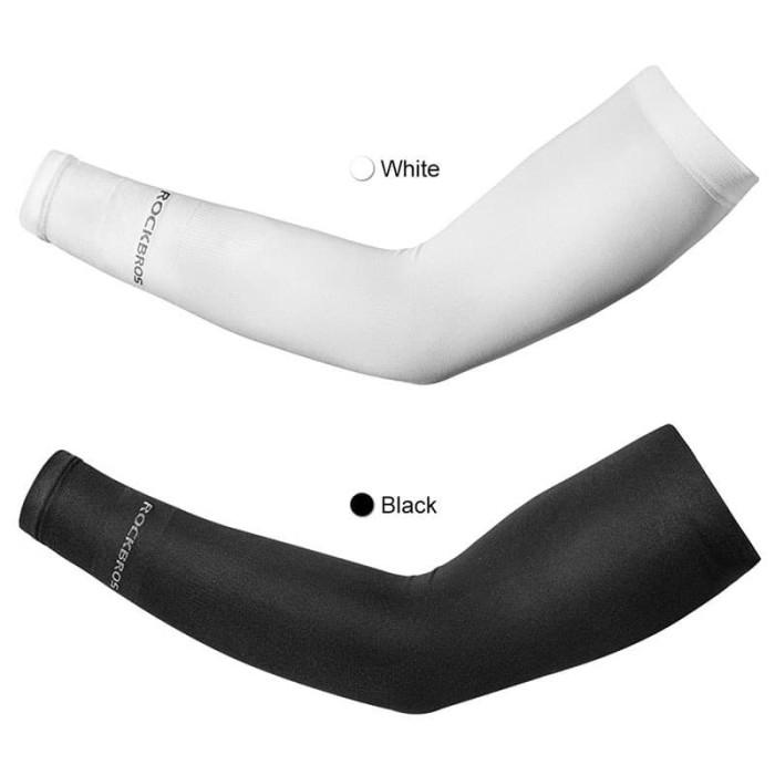 Foto Produk Rockbros XT9002 Arm Sleeve Outdoor Manset Tangan Sepeda Anti UV - Putih dari vesantra