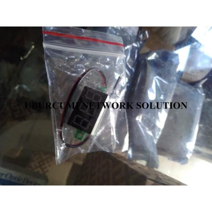 DC 3 Wire//LED Display 3-Digital Voltage Voltmeter Panel Meter Motor Car uk DD