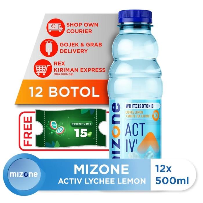 harga Mizone isotonik bernutrisi activ lychee lemon 500ml (12 botol) Tokopedia.com