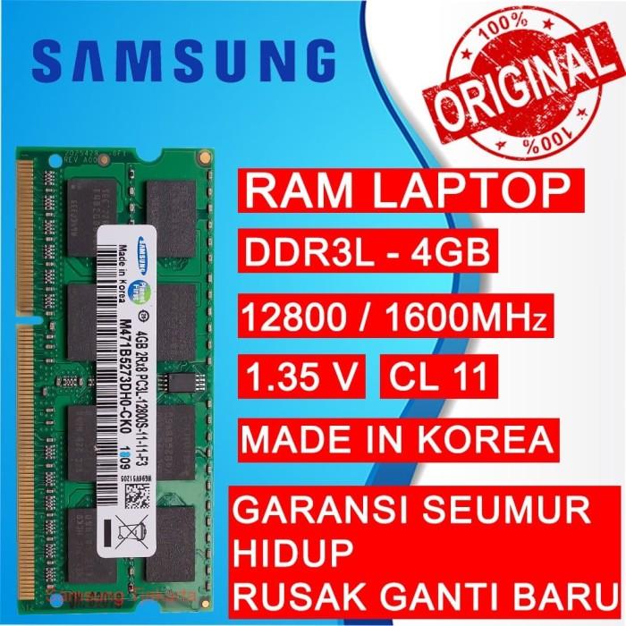 Foto Produk RAM NB DDR3L 4GB PC 12800/1600 MHz SODIMM LAPTOP/NOTEBOOK SAMSUNG dari Samsung Tjakarta