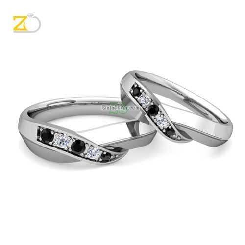 Jual Cincin Kawin Tunangan Couple Batu Hitam Putih Perak 925