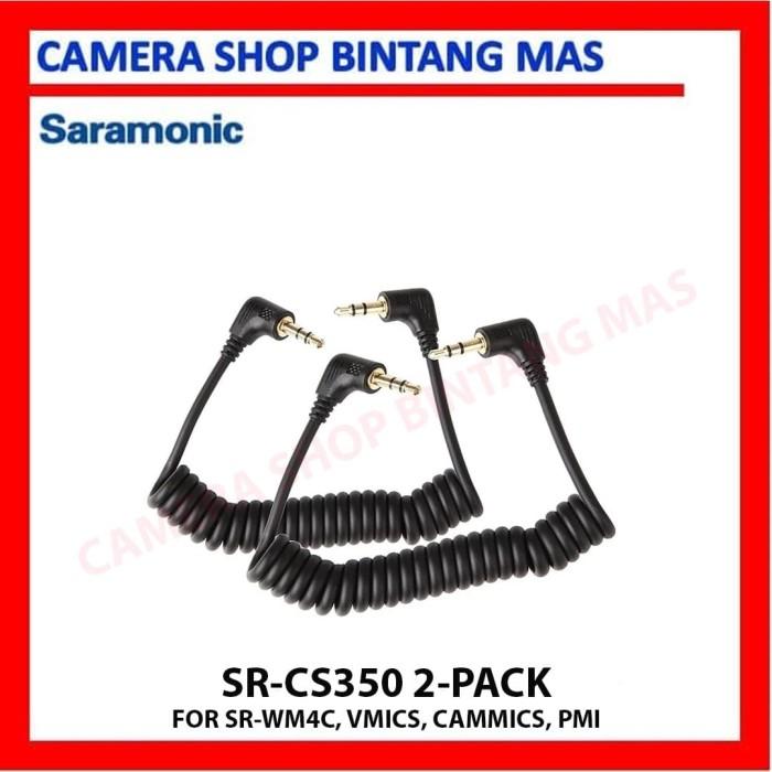 Foto Produk Saramonic SR-CS350 3.5mm TRS Microphone Replacement Cable - 2 pack dari Camera Shop Bintang Mas