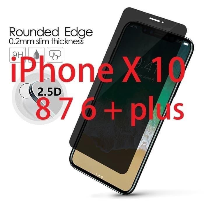 Foto Produk Tempered Glass iPhone X Ten Anti-Spy Bubble-Free Case-Friendly dari Bro Papao