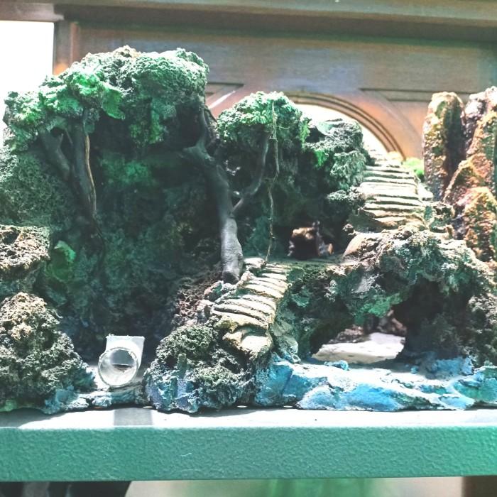 Jual Tebing Buatan Air Terjun Mainan Ikan Hiasan Aquarium