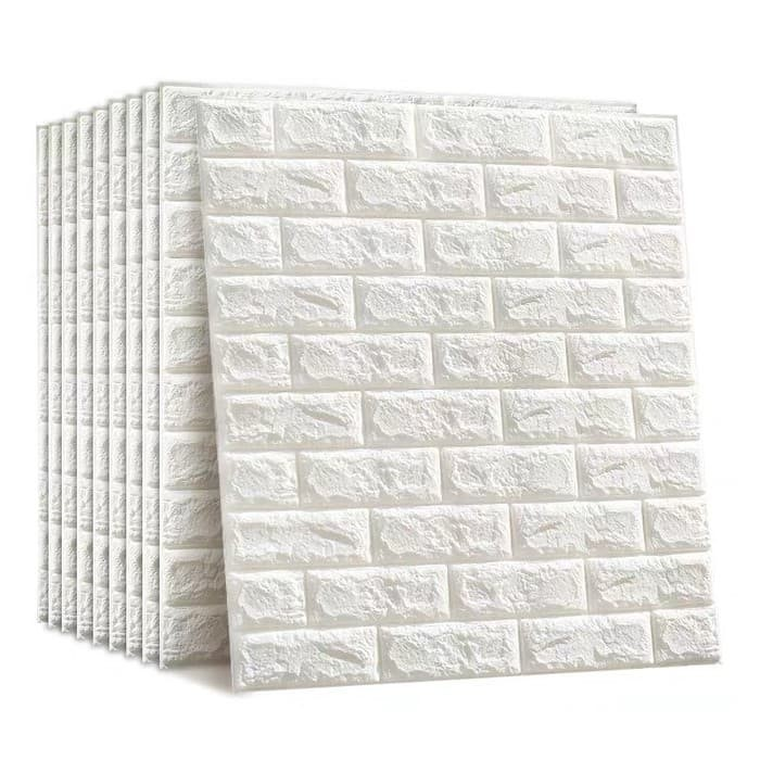 Jual Wallpaper Sticker Dinding Foam Brick 3D Emboss Warna Putih - DKI  Jakarta - SY_JAKARTA_STORE  Tokopedia