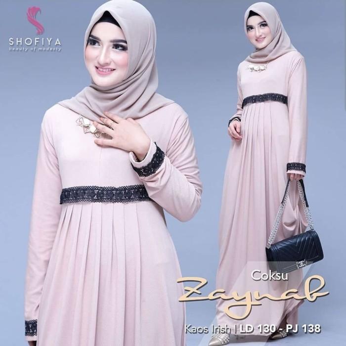 Jual Zainab Maxi Dress Daily Dress Muslim Gamis Wanita Murah Fashon Hijaber Kota Bandung Fadhilah Olsoff Tokopedia