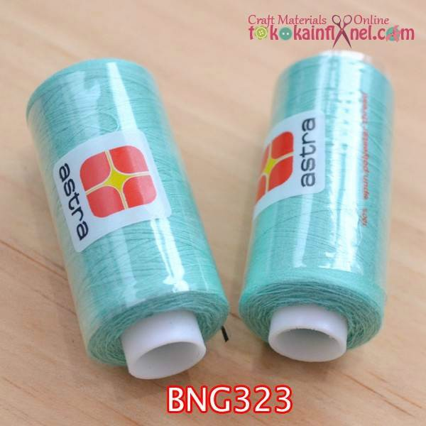 Foto Produk BNG323 Benang Jahit Astra Warna Hijau Tosca Muda 1 dari Toko Kain Flanel dot com