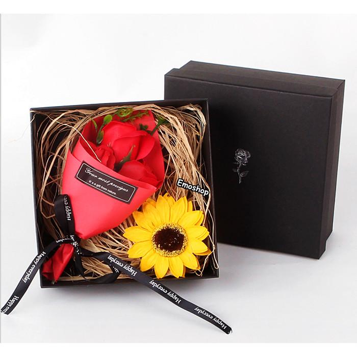 Foto Produk 3 Sun Flower Soap in Box, Kado Unik murah bt wisuda,ultah &Anniversary dari Emo Shop