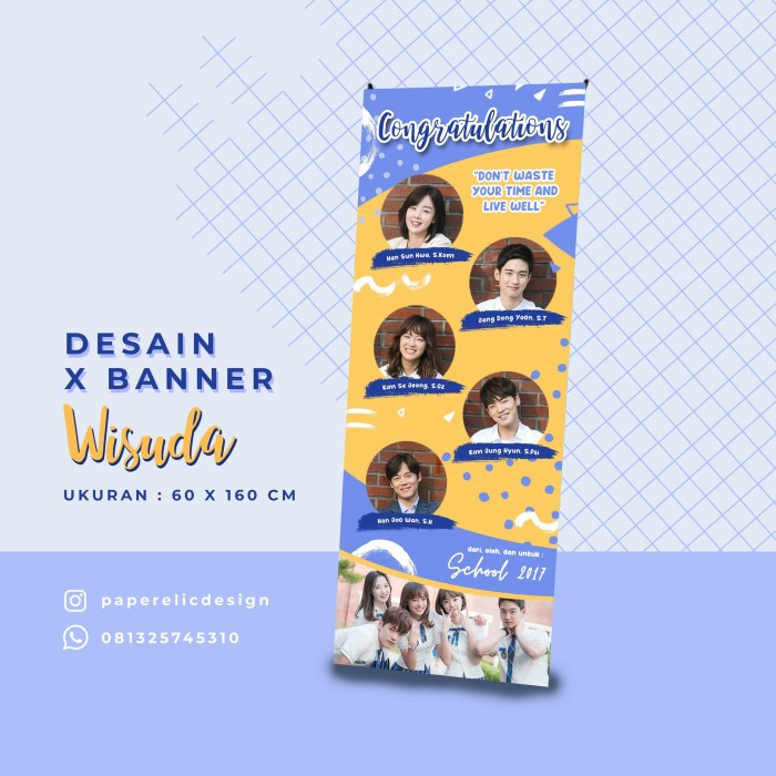 20+ New For Contoh Desain X Banner Wisuda