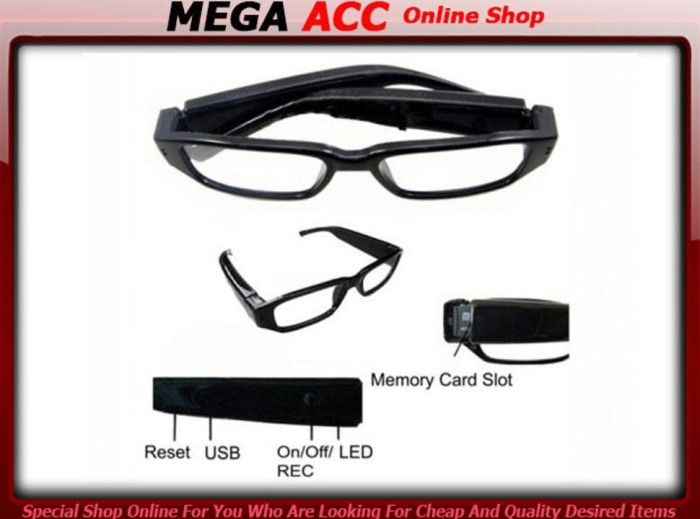 Jual Kamera Kacamata Spy Camera Glasses Camera 720p Hd High Resolution Kab Sidoarjo Adeestore495 Tokopedia