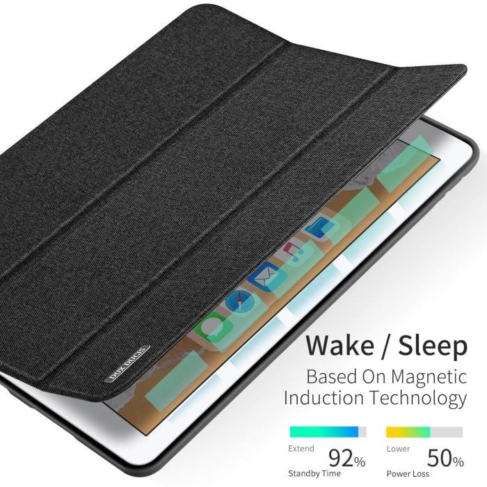 Foto Produk Case iPad 7 10.2 inch 7th-gen 2019 Dux Ducis Domo Series Cover Casing - Biru dari Pine Premium Gadget Acc