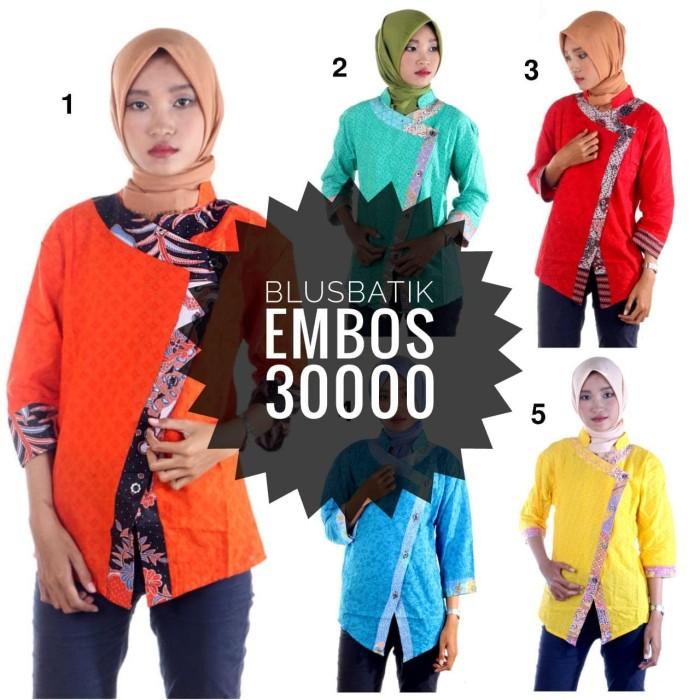 harga Blus batik blouse kerja mariska Tokopedia.com
