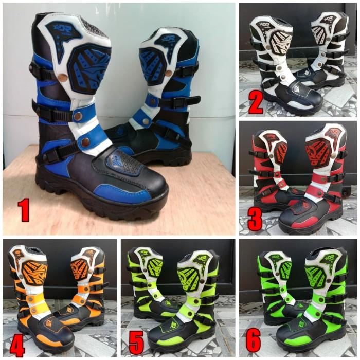 harga Sepatu cross anak trail cros offroad motocross merah hitam oren biru Tokopedia.com
