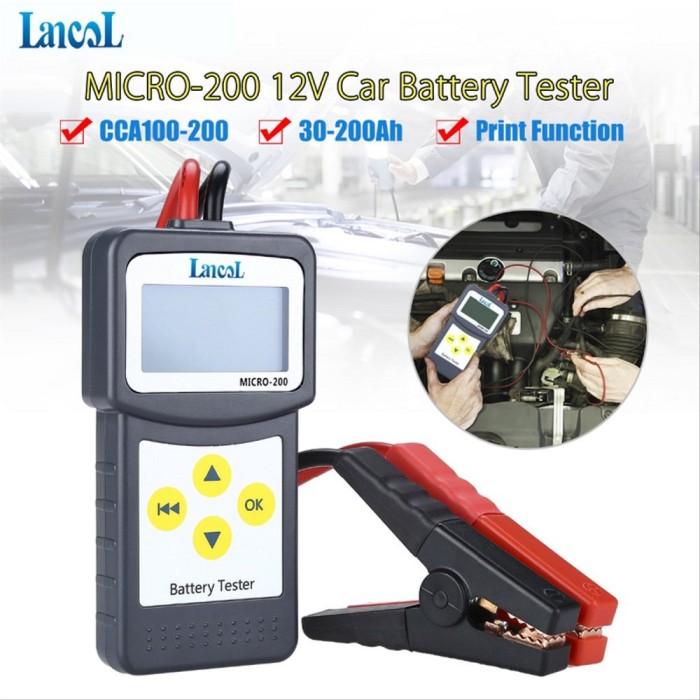 LANCOL 12V Digital Car Battery Tester Automotive Battery Analyzer USB for print