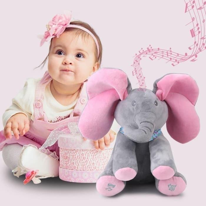 Foto Produk Talking & Singing Plush Elephant Stuffed Animal Interaktif Doll Toy dari yongzen shop