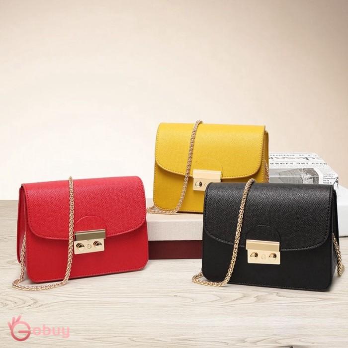 Foto Produk Tas Bahu / Selempang Ukuran Besar Bentuk Kotak Bahan Kulit Pu U Wanita dari Rhi3na Shop