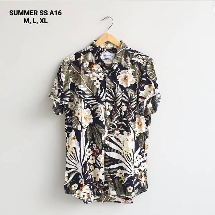 Kemeja summer ss a16 kemeja motif bunga import kemeja pria hem cowok