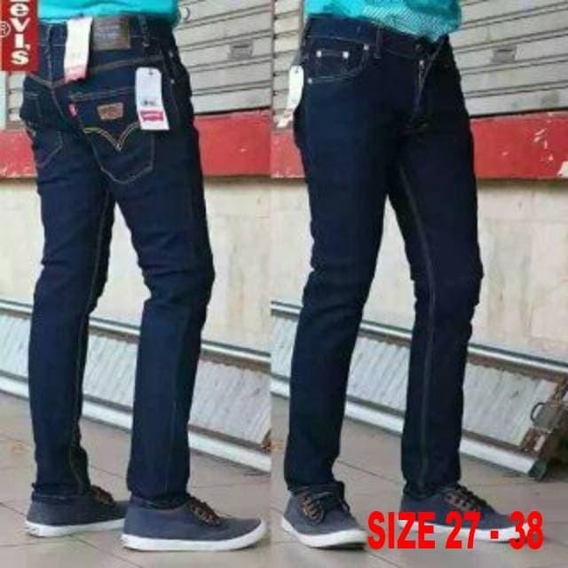 Foto Produk Celana Jeans pensil skny slimfit pria biru dongker Size 28-36 - 34 dari JuniShoes
