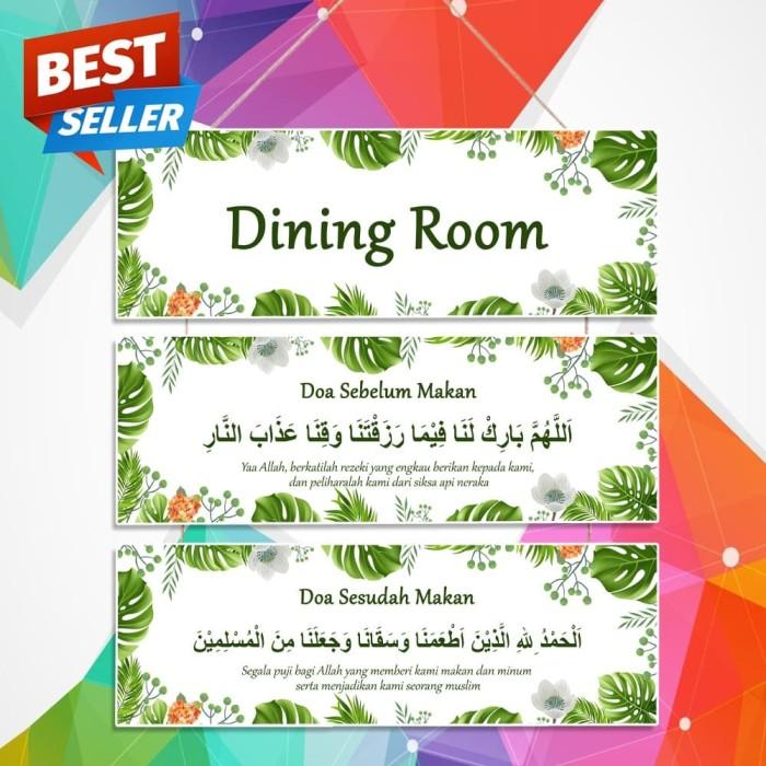 Jual Hiasan Dinding Papan Wooden Poster Ruang Makan Doa Sebelum Makan Kota Pangkal Pinang Brandibrandi Tokopedia