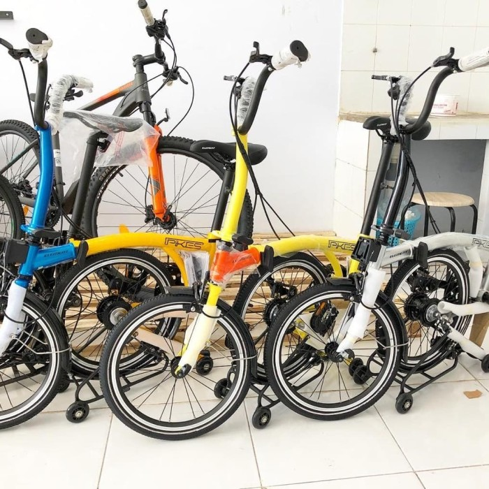 Jual Sepeda lipat 16 inci element pikes 8 speed - Kota