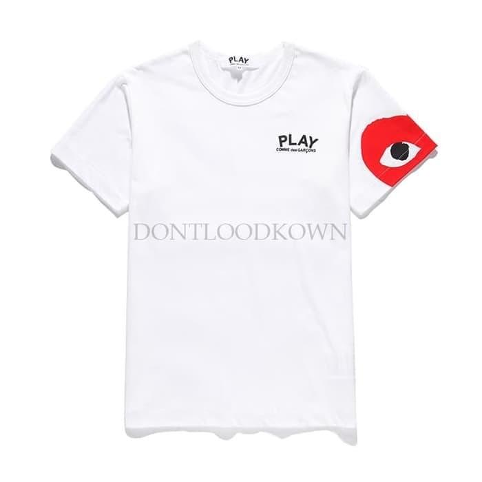 Jual Kaos Baju Cdg Comme Des Garcon Heart Edge Emoji Grade 1 1 Ori