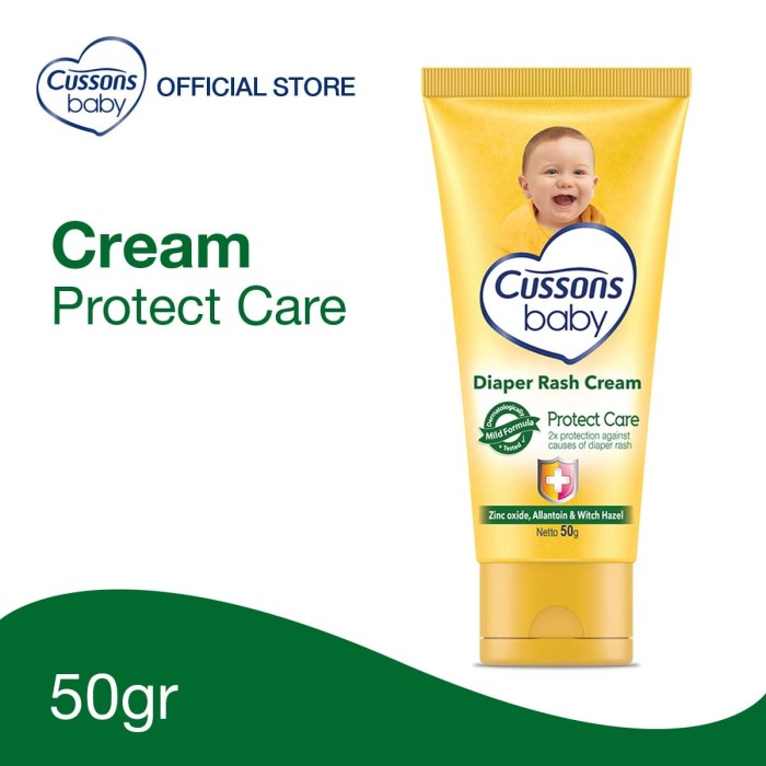 Foto Produk Cussons Baby Cream Protect Care Diaper Rash 50gr dari Cussons Official Store