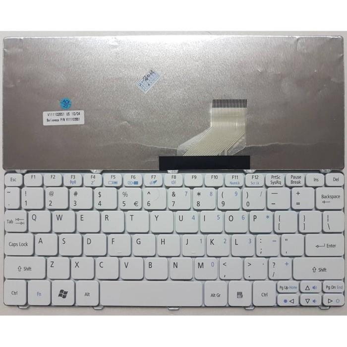 Foto Produk Keyboard Acer Aspire One Happy N57c - Putih dari Icon Click