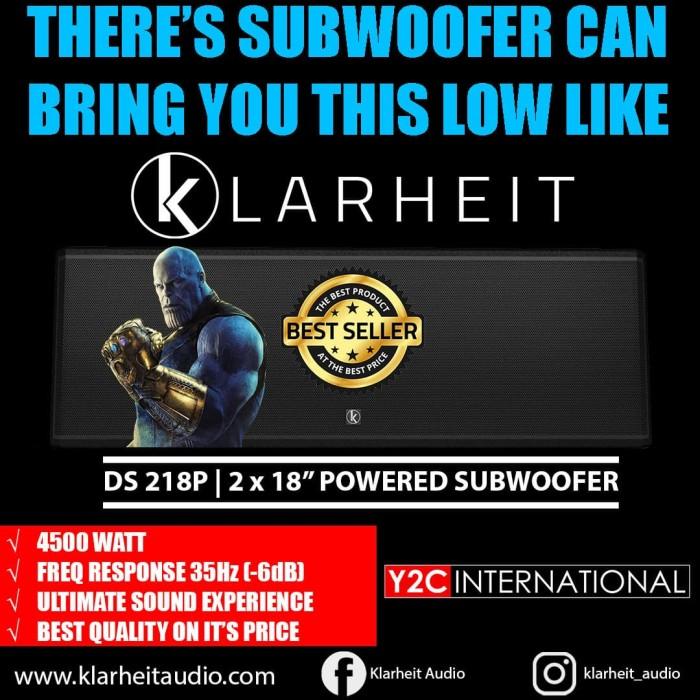 "Foto Produk Klarheit Powered Subwoofer DS218P 2 x 18"" 4500 Watt 35Hz (-6dB) dari Y2C INTERNATIONAL"