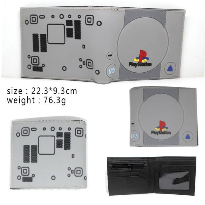 Foto Produk Dompet lipat gambar game console playstation 1 abu abu dari Wildcard