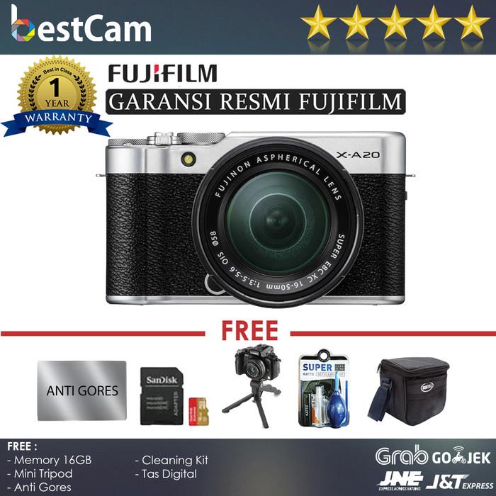 harga Fujifilm x-a20/xa20 kit 15-45mm (silver) - free acc - resmi Tokopedia.com