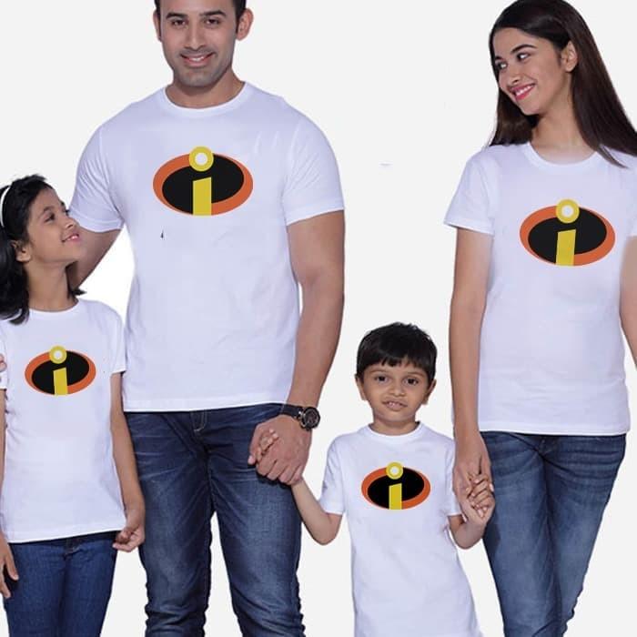 Foto Produk Kaos Baju Tshirt Couple Family The Incredibles ICD02 dari lysinshop