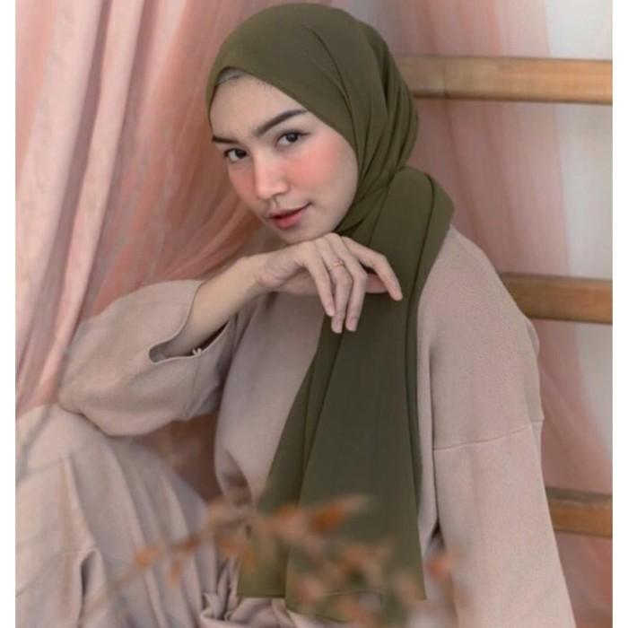 Jual Hijab Pashmina Ceruti Babydoll Peanut Jakarta Pusat Dc Fashion Jakarta Tokopedia