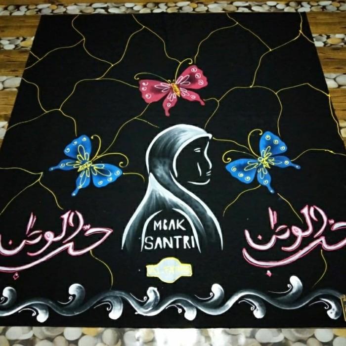 Jual Sarung Batik Lukis Motif Mbak Santri Bunga Kupu Kupu Pink Biru Kota Pekalongan Toko Buku Lima Tokopedia