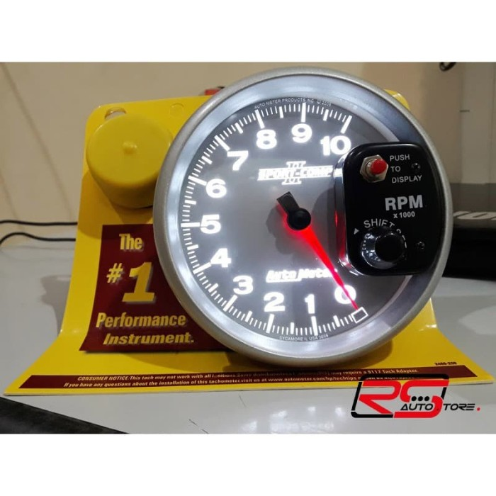 Foto Produk TACHOMETER RPM (Rep) AUTOMETER 5 inch SILVER dengan SHIFT LIGHT dari RS-Autostore